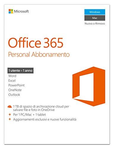 Preisvergleich Produktbild Microsoft Office 365 Personal 32-bit / x64 Subscript. 1 L