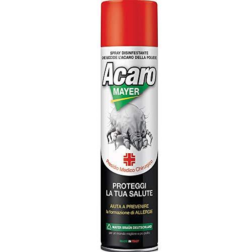 Spray Antiacaro Disinfettante Per Materassi Tessuti Divano Cuscini ACAROMAYER 400 Spray Polvere Anallergico Atossico Insetticida Acaricida Guardaroba