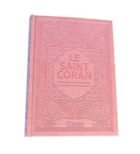 Saint Coran - Ar/Fr/Phonetique - Édition de Luxe (Couverture Cuir Rose Clair)