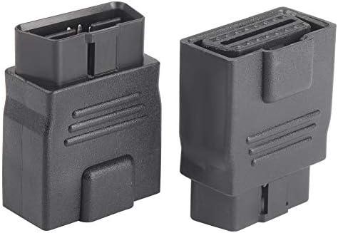 OLLGEN Mini Size OBD2 OBDII Full 16 Pin Male to Female Adapter Diagnostic Extender OBD Port product image