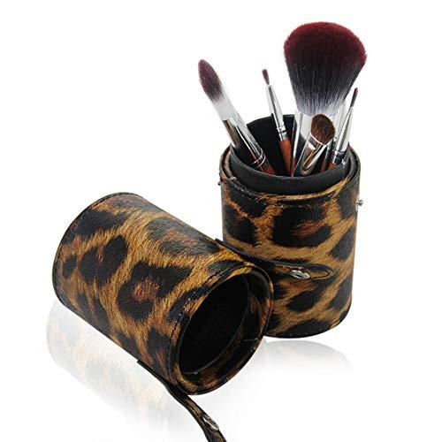 Maquillage Brush 7 Leopard Cylinder Set Outils de maquillage de beauté