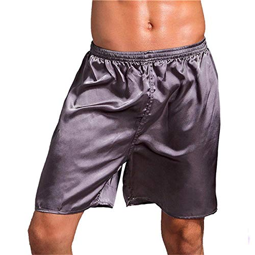 Kurz Hose Sexy Plaid Soft Home Shorts Männer Schlafhosen Sommer Atmungsaktiv Loose Casual Männliche Pyjamas Arrow Schlafshorts XXL Grau
