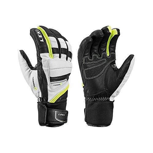 LEKI Griffin Prime S Gants Primaloft Jaune/noir/blanc, Taille 9,5 – Couleur : noir/blanc/jaune