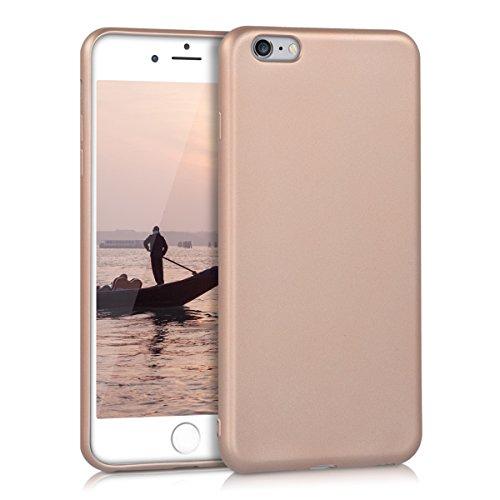 kwmobile Cover Compatibile con Apple iPhone 6 Plus / 6S Plus - Cover Custodia in Silicone TPU - Backcover Protezione Posteriore - Oro Rosa Metallizzato