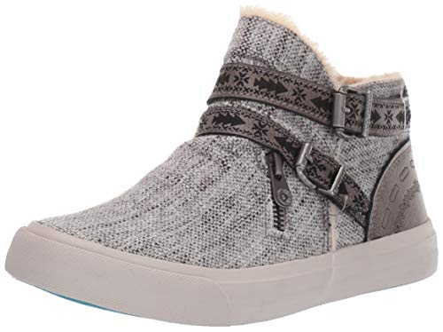 Blowfish Mojo-B SHR Light Grey Grungy Weave/Amazonia Pu 7.5