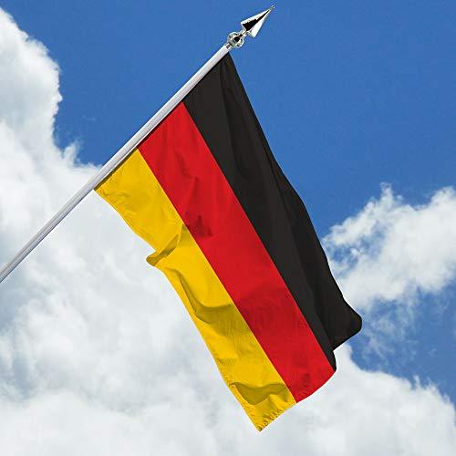 Deitert Deutschlandfahne – 150x250 cm Deutschland Flagge, Haushängefahne aus reißfestem Polyester