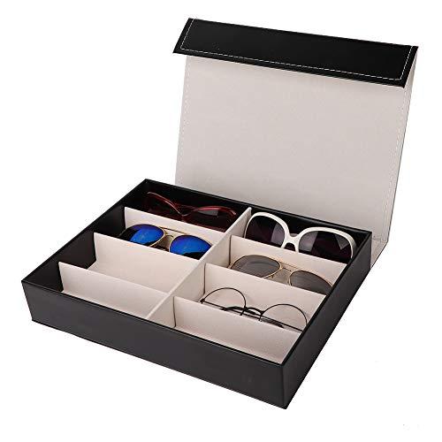 YOIM Estuche para Gafas, 12,6 x 9,4 x 2,2 Pulgadas Estuche para Guardar Gafas con Forro de Tela Suave para organizar y exhibir Gafas