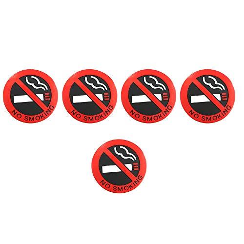 Lecimo 5/10 Pack 5 cm Nichtraucher Auto Wandaufkleber 5 cm Nicht Verblassen, Außenwandschild, 2#