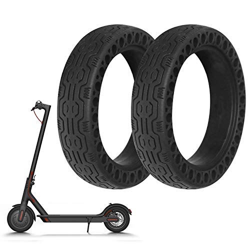 8.5 Pulgadas Neumáticos Ligeros Sólidos Del Agujero Del Panal Compatible Con Xiaomi Xiao Mi Mijia M365 Scooter Eléctrico (Nero2)