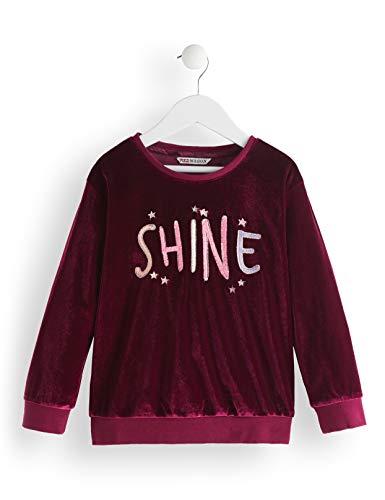 Marca Amazon - Red Wagon Shine Embroidered, Sudadera para Niñas, Morado (Maroon), 110, Label:5 Years