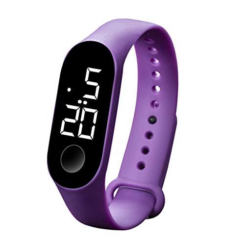 JiaMeng - Reloj de Pulsera para Hombre, electrónico, táctil, Impermeable, con Sensor Luminoso de Deportes, electrónico, LED M