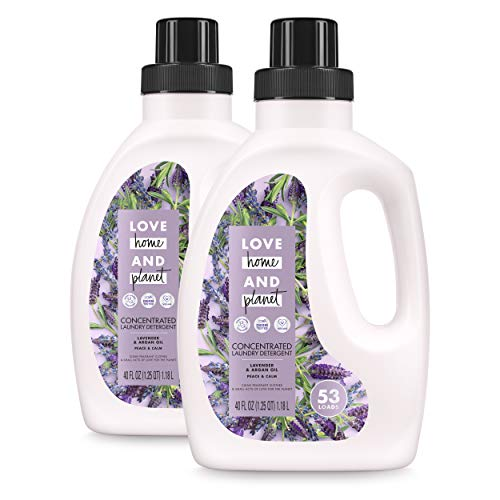 Love Home and Planet Concentrated Laundry Detergent Lavender & Argan Oil 40 oz, 2 Pack