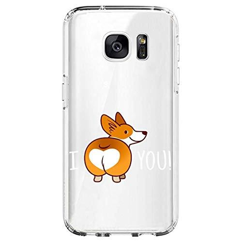Funda compatible con Samsung Galaxy S7 Edge, diseño dulce, suave gel de silicona, transparente, antiarañazos, funda protectora antichoque, Slim Fit de silicona 7 Talla única