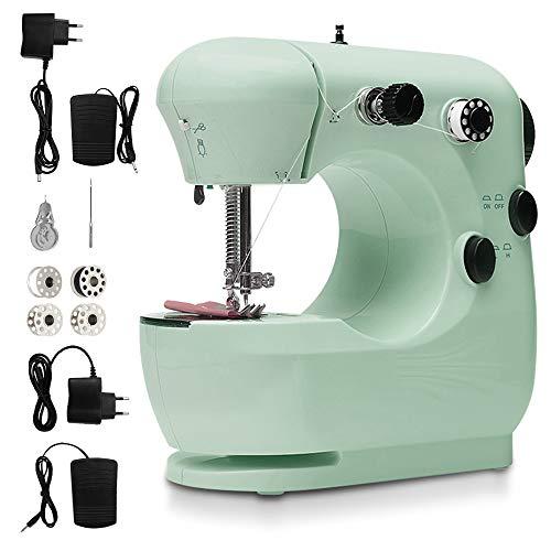 SZSMD Máquina de coser Overlock, máquina de coser rápida, herramienta de costura doméstica, máquina de coser eléctrica, máquina de coser pequeña, herramienta de costura, 2 velocidades