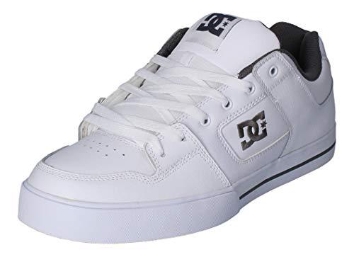DC Shoes Herren Pure - Shoes For Men Skateboardschuhe, Weiss Hbwd, 50 EU
