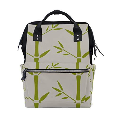 Bambus Grünes Blatt Pflanze Große Kapazität Wickeltaschen Mama Rucksack Multi Funktionen Windel Wickeltasche Tote Handtasche Für Kinder Babypflege Reise Täglichen Frauen