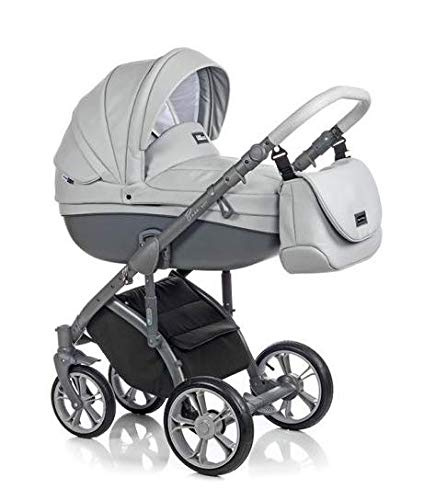 Neuheit Original Roan Bass Soft Reisesysteme Kinderwagen 2in1 3in1 4in1 Sonnenschirm + Originalzubehör Exclusive Prams (3in1, Dove Grey)