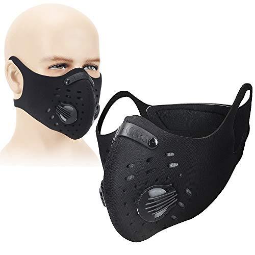 ING STYLE プロも認めた! 洗える トレーニング用 マスク 低酸素 持久力 肺活量 フィルター付 (ブラック)