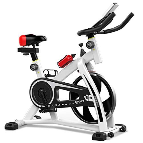 Indoorcycling Bikes Christopeit Ergometer Indoor Pedal Indoor Sportfahrrad Wohnzimmer Fahrrad Leises Spinnrad Heimtrainer Gewichtsverlust Fitnessgeräte ( Color : Weiß , Size : 101*49*110cm )