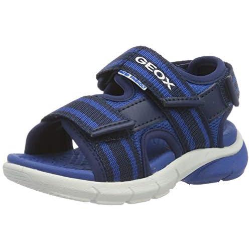 Geox J Sandal FLEXYPER Boy B, Punta Aperta Bambino, Blu (Blue/Royal C0615), 24 EU