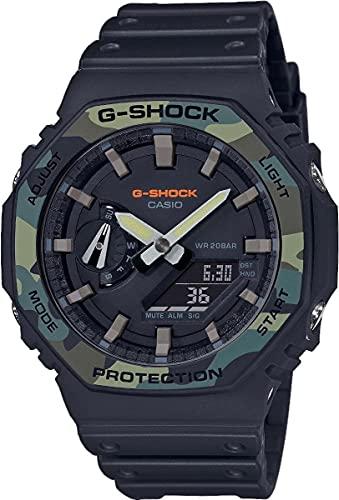 Casio Reloj Analógico-Digital para de los Hombres de Cuarzo con Correa en Resina GA-2100SU-1AER