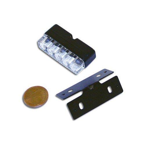 Mini-LED-Nummernschildbeleuchtung,schwarz, E-gepr. (256-035)