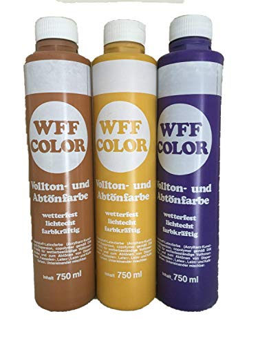 2x750ml WWF COLOR Vollton- und Abtönfarbe 1,5 Liter Farbwahl, Farbe:Umbra-grün 342