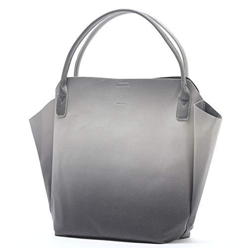 Rachel Small Lightweight Soft 20 x 13 Vegan Leather Tote Handbag … (Black Ombre)