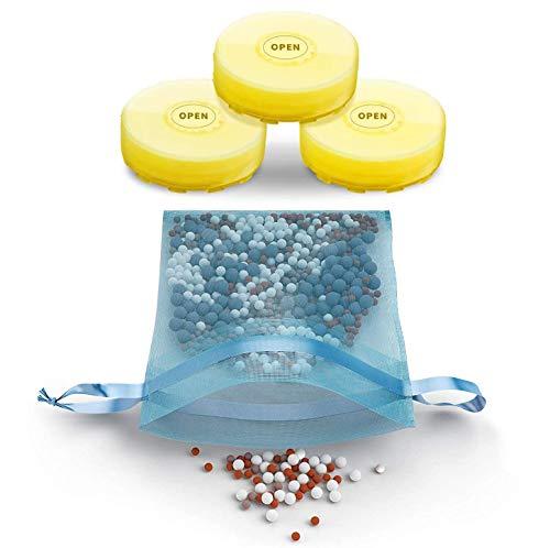 Juego de filtros de repuesto para usar con cabezal de ducha de filtro de vitamina C, elimina cloro, cloramina y flúor, ioniza y aumenta el pH, suaviza el agua dura