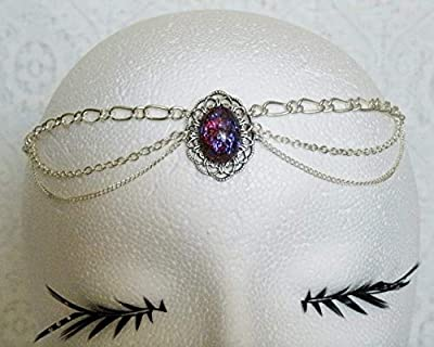 Dragon's Breathe Fire Opal Circlet, handmade jewelry wiccan pagan wicca witch witchcraft gothic renaissance medieval victorian headpiece