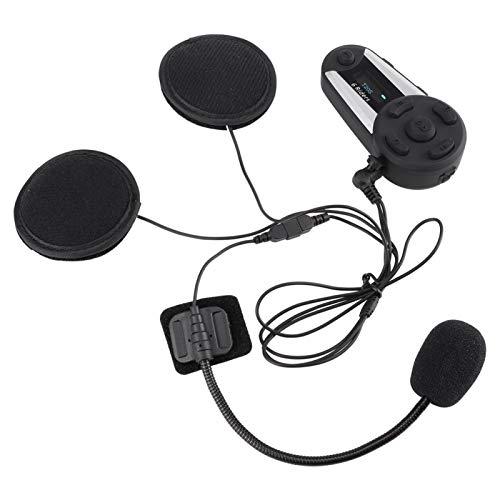 DAUERHAFT IP56 Impermeable Bluetooth Inalámbrico Conveniente Estéreo Moto Radio FM Auricular Casco de Moto Auricular, con Pantalla