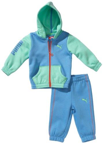 PUMA Baby Anzug ESS Infant Hoooded Jogger, Azure Blue, 92, 824156 02