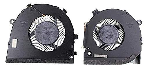 CAQL GPU + Ventilador de refrigeración de CPU para portátil DELL G3-3579 3779 G5 5587 para Videojuegos, P/N: 0TJHF2 0GWMFV, un par
