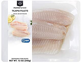 Fresh Tilapia Fillets, Farm-Raised, 12 oz