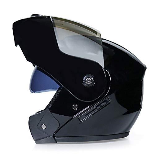 Mode Casque De Moto Intégral Casque Modulable Transformable Pare Soleil Interne Miroir Plaqué Argent Pour Vélos, Voitures De Course, Moto Scooter