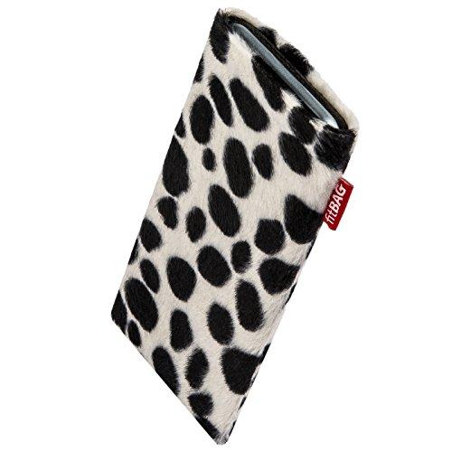 fitBAG Bonga Dalmatiner Handytasche Tasche aus Fellimitat mit Microfaserinnenfutter für ARCHOS 50 Graphite | Hülle mit Reinigungsfunktion | Made in Germany