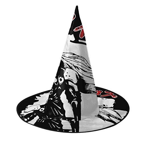 Sombrero de Halloween Sephiroth Personajes japoneses Final Fantasy VII Sombrero de Bruja Halloween Disfraz Unisex para Vacaciones Halloween Navidad Carnavales Fiesta