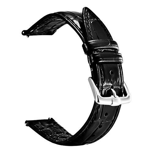Correa de Reloj de Cuero de liberación rápida para Relojes Digitales y analógicos, Correas de Reloj para Hombres y Mujeres Tamaño 20 mm 22 mm con Cinturones/Pulseras marrón Azul y marrón Oscuro