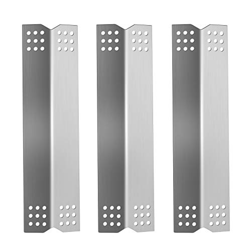 Folocy Stainless Steel Grill Heat Plates Shield Heat Tent, BBQ Gas Grill Replacement Parts Accessories for Kitchen Aid 720-0819 2 Burner, 720-0787D 3 Burner Gas Grill Models, 16.5 x 4.5 inches, 3-Pack