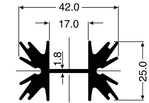 Fischer Elektronik SK 129 38,1 STS Profilkühlkörper 5 K/W (L x B x H) 38 x 42 x 25 mm TO-220, SOT-32