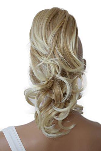 PRETTYSHOP 30cm Haarteil Zopf Pferdeschwanz Haarverlängerung Voluminös Gewellt Blond Mix H107