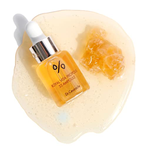 Honey Nourishing EssenceㅣRoyal Vita Propolis 33 AmpouleㅣKorean Skin Care Contains Royal Jelly Extract, PanthenolㅣEffective Vitamin Serum strengthen the skin Moisturizing, SoothingㅣDr.Ceuracle