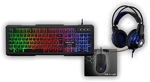 The G-Lab - Combo Xenon - Pack Gaming - Teclado ES Retroiluminado...