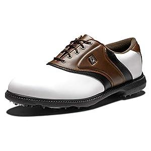 FootJoy Men's Originals Golf Shoes White 10.5 M Brown, US