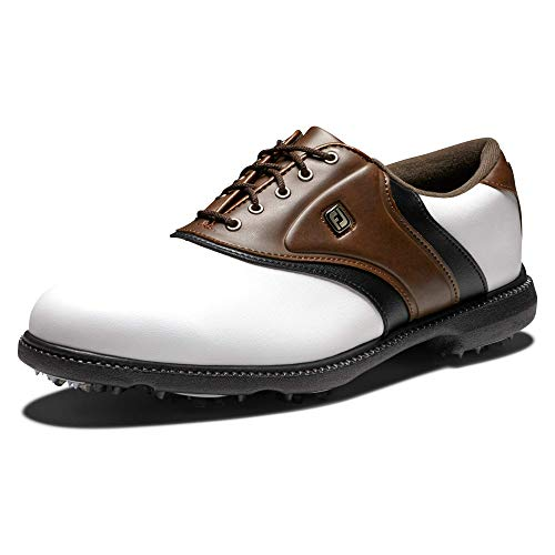 FootJoy Men's Originals Golf Shoes White 8.5 M Brown, US