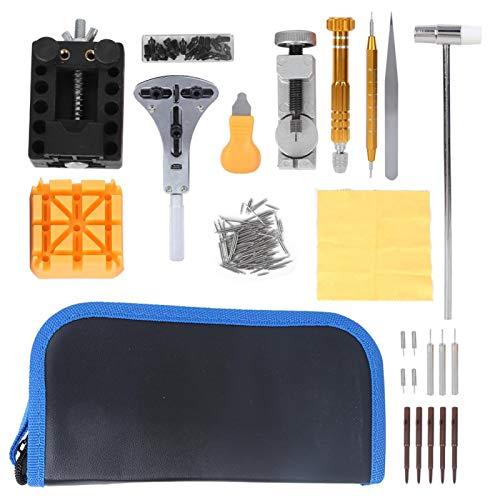 Kit de herramientas de reparación de relojes, abridor de relojes funcional de alto rendimiento, relojeros ligeros que reemplazan las pilas para reparar correas de relojes