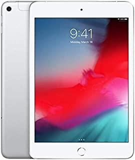 "Apple iPad Mini 7.9"" (2019 - 5th Gen), Wi-Fi + Cellular, 256GB, Silver, Middle East Version"