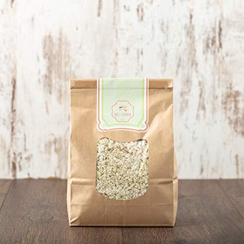 süssundclever.de® Bio Buchweizenflocken   vollkorn   2 kg (2 x 1 kg)   plastikfrei und ökologisch-nachhaltig abgepackt