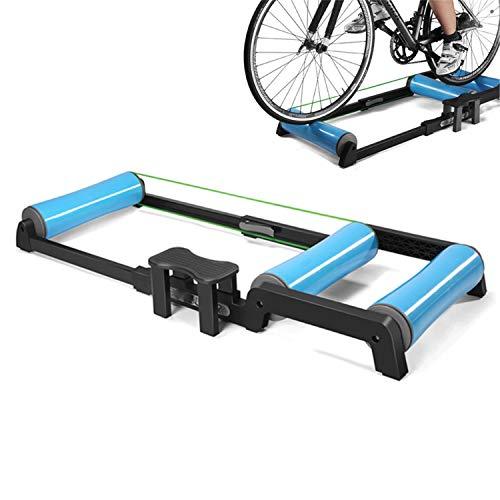 Plegable cubierta Entrenamiento ciclista Rodillos, estación de ejercicios plegable ajustable bicicletas bicicletas...