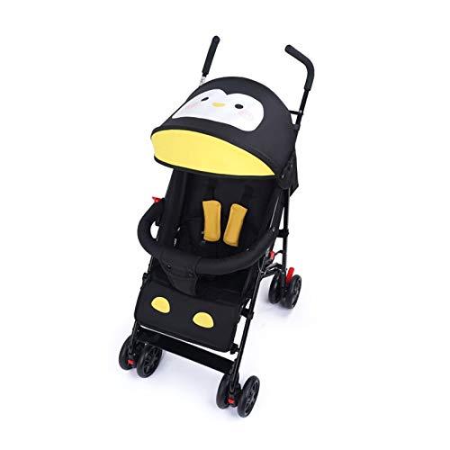 HxzcA Cochecito de bebé Cochecito de bebé 3 en 1 Cochecito de bebé Cochecito de bebé Cochecito con colchón Sombrero Sombrero Ligero Cochecito Triciclo Cochecito de bebé con sombrilla (Color : Black)